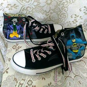 Converse Chuck Taylor BATMAN & JOKER Black Shoes
